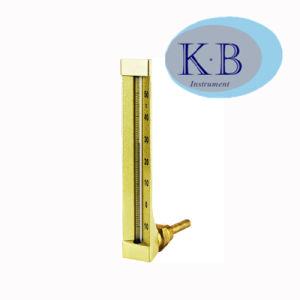 V ligne bimétalliques industriel chauffe-eau thermomètre de verre