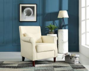 居間の現代白い余暇ファブリックソファーの椅子
