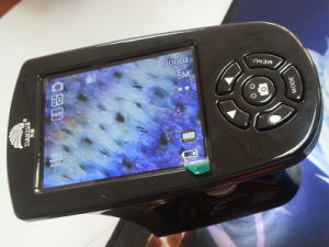 Portable amplía 20X, 200x, pantalla LCD de 500x Microscopio digital puede almacenamiento de vídeo.