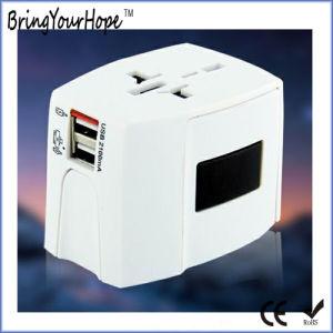 Цвет Muliti-Country универсальный адаптер питания поездки с 2 порта USB (XH-UC-015)