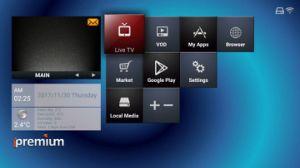 Ipremium 4Kは人間の特徴をもつOtt/IPTVのボックスOS二倍になる