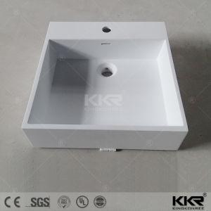 Einteiliges modernes glattes weißes Matt-Wäsche-Bassin