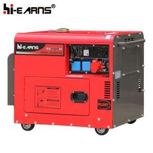 Luftgekühlter leiser Typ Dieselgenerator dreiphasig (DG6500SE alter Typ)