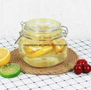 Gedichtetes Glas-Glas-Honig-Glas mit Klipp-Spitzenspeicher-Glas