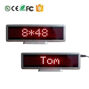 Mini LED scheda da tavolino mobile del segno della visualizzazione della visualizzazione di messaggio dell'automobile di 848 serie
