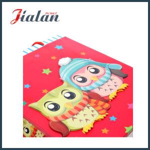 반짝임 & 3D 올빼미 선물 종이 봉지를 가진 아이보리페이퍼를 주문을 받아서 만드십시오