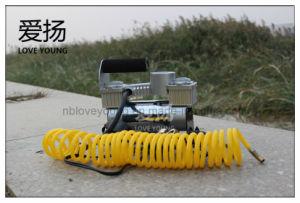 Pompa di aria portatile del pneumatico dell'automobile del compressore d'aria di CC 12V del cilindro del doppio del metallo