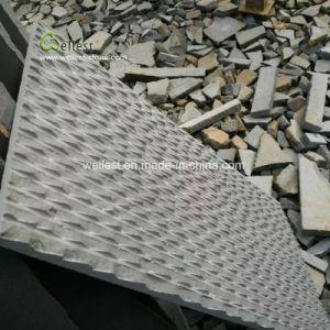 Split naturelle gris basalte Panneau mur en pierre, de la lumière Bluestone revêtement mural Tile