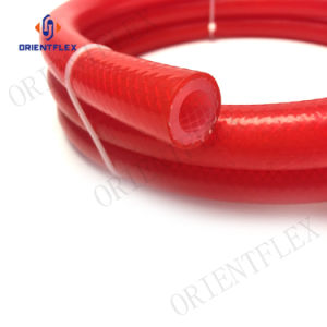 Tubos de silicone reforçado trançado de mangueira do tubo de Grau alimentício