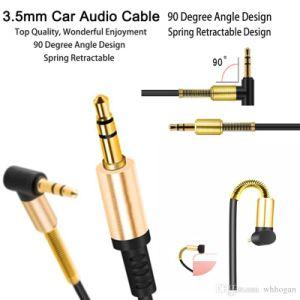 Кабель аудио кабель плоский 90 градусов вправо кабель Aux с дома автомобиль