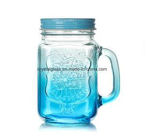 vetro 16oz che beve il vaso di muratore di vetro della bocca larga con la maniglia