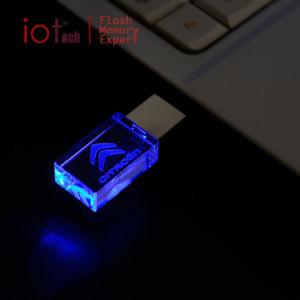 Популярных подарков 4ГБ кристально чистый флэш-накопитель USB с логотип