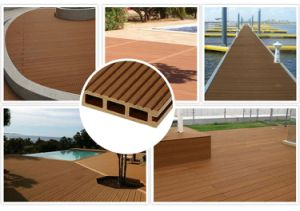 Композитный пластик цельной древесины в открытую террасу для использования вне помещений WPC планка