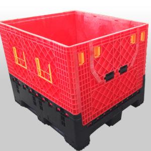Grande Caixa de paletes de plástico dobrável