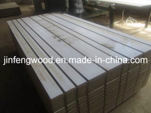 China-Hersteller AAA-Grad E1 /E2 gekerbter MDF/Melamine MDF mit 7 oder 11 Nuten für System-Bildschirmanzeige