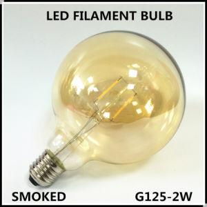 O bulbo do filamento do diodo emissor de luz (G125-2W) fumou
