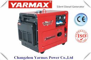 Generador diesel silencioso portable de Yarmax con el mejor precio del Ce 5.5kw 6.5kVA