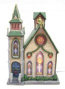 Natal iluminado de porcelana House Igreja