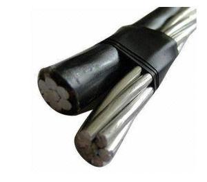 Voltage basso 600V Aerial Bundled Cable Duplex Cable per Overhead Transmission