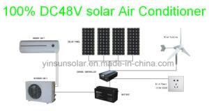 100% солнечной DC 24V 18000БТЕ монтироваться на стену раздельный кондиционер