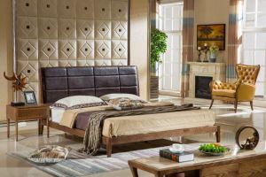Nouveau design moderne promotionnel lit en bois massif