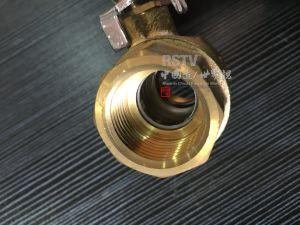 Porta piena/valvola a sfera Bronze d'ottone alesata del filetto femminile 2PC