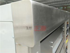 2 de Oven van het Dek van de Deur van het Roestvrij staal van het Gas van deuren en van 4 Dienbladen (zbb-204M)