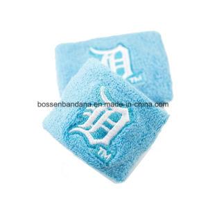 工場OEMの農産物のカスタム刺繍の綿のテリーの手首のSweatband