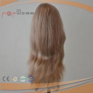 バージンの毛のレースの前部医学のかつら(PPG-l-0640)