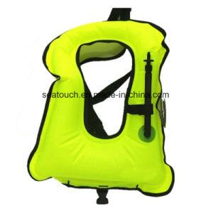 Eco-Friendly PVC colete de Snorkeling Inflável Portátil