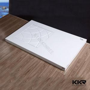 Kkrの三角形のホテルのための固体表面の浴室のシャワーの皿