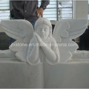 Libro de mármol blanco con Angel monumento estatua