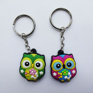 Promotional Gifts를 위한 주문 Brand 3D Rubber Key Chain