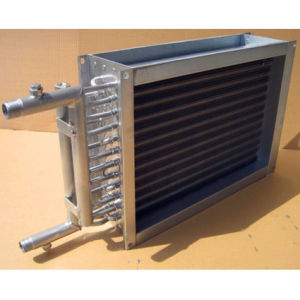 Acqua d'attaccatura del riscaldatore dell'unità dell'acqua calda per ventilare le bobine dello scambiatore di calore