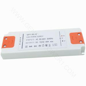 36W 12V 24V Clásico en el interior de la luz de LED Controlador de potencia CC SMP, Salida Única TIRA DE LEDS transformador adaptador convertidor DC AC con Shell Plassic SMPS