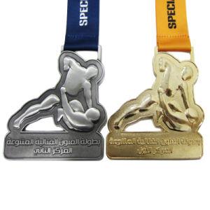 自由なアートワーク2D/3Dの特殊部隊金か銀によってめっきされるスポーツメダルのための(016)
