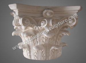 Natuurlijke Marmeren Snijdende Pijler van Standbeeld (sk-3380)