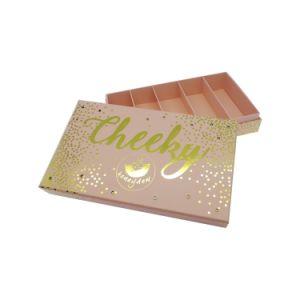 Commerce de gros beauté Cosmétique Personnalisée Emballage papier Glitter boîte cadeau
