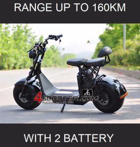 2018 nuevo con dos Citycoco Scooter eléctrico de la batería Rango de hasta 180km.