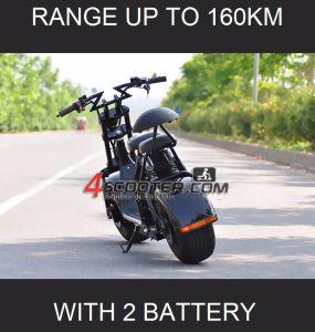 2018 180kmまで2つの電池のCitycocoの電気スクーターの範囲と新しい