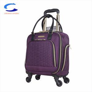 China 16 de la ciruela de la mujer frente a las 4 ruedas de nylon bolsa para portátil debajo del asiento llevar de viaje en la maleta un candado dígitos carro telescópico de bolsillo varios equipaje simplista
