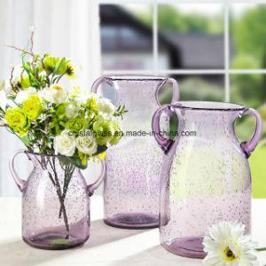 Décoration colorée Vase en verre avec bulle
