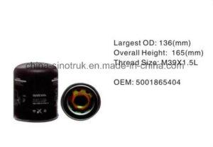 Ursprüngliches Qualitätsschmierölfilter Soem 5000814227 für Renault