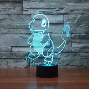Покемон Перейти Charmander 3D-Color сменные визуальные ночники для детей подарки