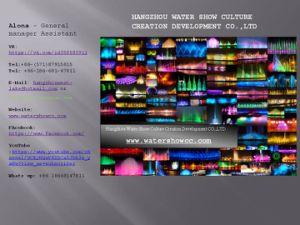 Het grote Water van de Muziek toont Fopuntain met LEIDENE RGB Licht en Laser