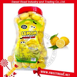 Gomma da masticare della bolla al gusto di frutta a forma di limone dolce della strada