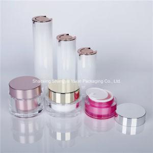 夜修理目のクリームのための空50mlプラスチック装飾的なアクリルの瓶