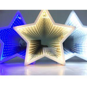 LEIDENE van de Tunnel van de Ster van de Spiegel van de Decoratie van het huis het Lichte 3D Licht van het Motief