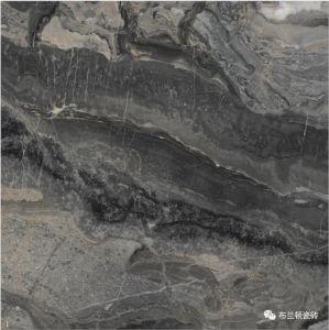 De zwarte Ronde Vorm verglaasde de Marmeren Volledige Tegel van de Vloer van het Porselein van het Lichaam