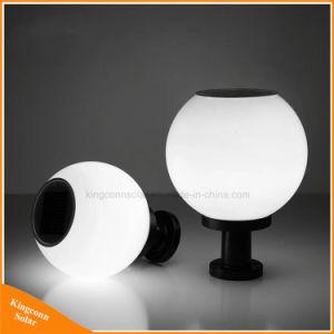La luz solar Integrated Solar LED Luz Pilar al aire libre con soporte negro/plata